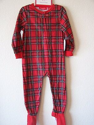 Baby Toddler Holiday Brinkley Plaid Print FlannelPajamas one Piece full  Zipper 9530d7d97
