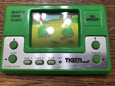1984 Go, Sprout! Tiger Electronics Handheld LCD Watch Game Jolly Green Giant