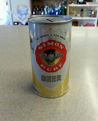 Simon Pure Beer Can Coin Bank, Vintage Buffalo NY Beer