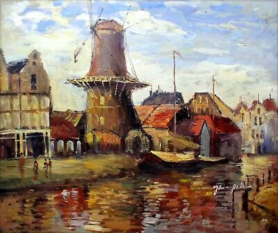 Claude Monet Zaandam Repro, Hand Painted Oil Painting 20x24in