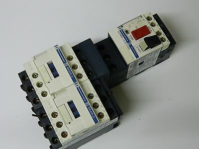 Telemecanique LC2 D09BD 25A 4KW Reversing Contactor & GV2 ME03 Motor Starter