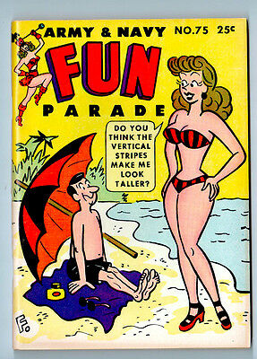 ARMY & NAVY FUN PARADE # 75 NM 1956 FILE COPY NEVER READ CYD CHARISSE pin-up