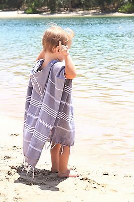 Hooded Poncho Towel For Kids Grey Unisex Lightweight