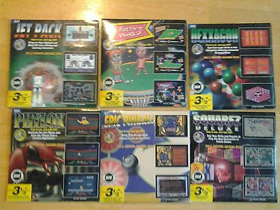 Lot of 6 Vintage P.C. Computer Games 1990s NEW SEALED