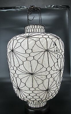 """A Chinese Antique Style Lantern 18 """" High white Asian style design pattern china"""