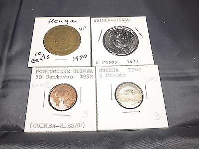 1910 - 1986 Mixed African Coin Lot 24 Coins