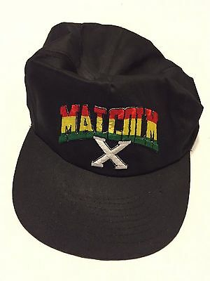 Vintage Malcom X Snapback Cap 1990s One Size Fits All