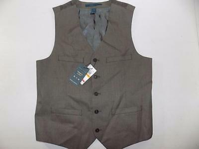 Perry Ellis Men's Chinchilla Wrinkle Resistant Vest Polyester NWT Size S MV9