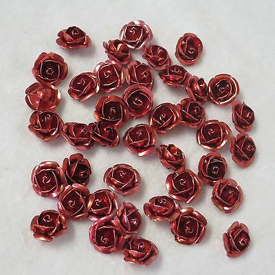 "100 metal ""roses"" metal  charms  -   (no hole)"