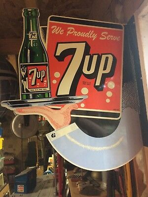 Metal 7-Up Sign Double-Sided