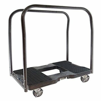 SNAP-LOC PANEL CART DOLLY BLACK with 1500 lb Capacity Steel Frame 4 inch Cast...