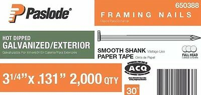 """3-1/4"""" & 3"""" Hot Dipped Galvanized Framing Nails by PASLODE (#650388)"""