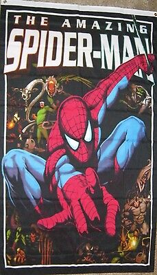 New 3' by 5' Spiderman Flag/Banner. Free Shipping in Canada.