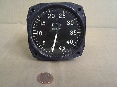 General Electric Indicator Tachometer Af Type -13 An-5530-1 Np 97653 0-4500 Rpm