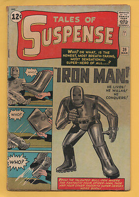 Tales of Suspense #39 Marvel Comics 1963 1st Appearance of Iron Man KEY ISSUE VG