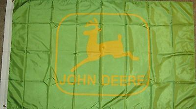 New 3' by 5' John Deere Flag. Free Shipping in Canada!
