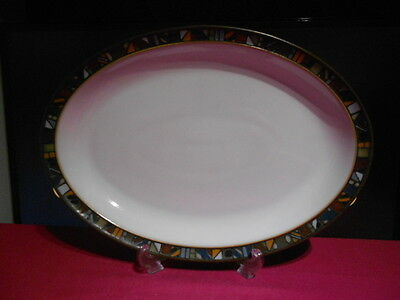 "Denby Marrakesh Oval Steak Dinner Plates 1st Quality 13"" x 9.25"" 7 Available"