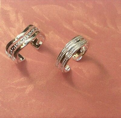 Sterling sp 925 Toe rings two styles Set..... Adjustable