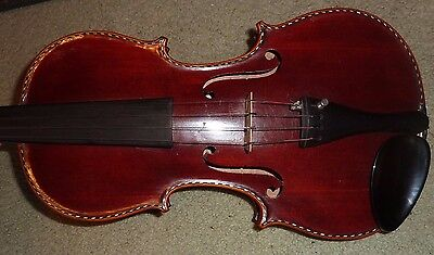 Beautiful Old 4/4 Violin With Pearl And Ebony Inlaid  Purfling