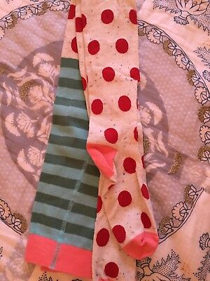 Matilda Jane Holiday Tights Size 16 Red White Dots