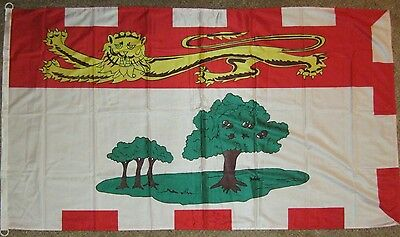 New 3' by 5' Knitted Polyester Prince Edward Island Flag. Free Ship in Canada!