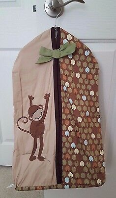 Lambs & Ivy JUNGLE LAND Baby Boy Nursery Diaper Stacker Brown Monkey Polka Dots