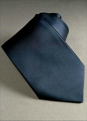 Dark blue navy blue satin tie for kids toddler baby FAST SHIPPING!