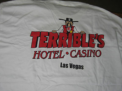 Terrible's casino Las Vegas white T shirt size XL