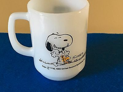 Vintage Fire King Snoopy Mug - This Has Been a Good Day!