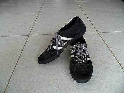 Adidas Black Shoes Sneakers UK Size 6.5