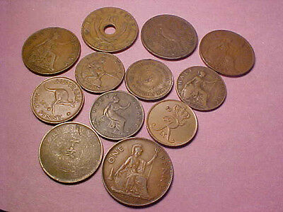12 Copper Foreign Coins