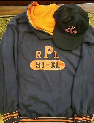 1991 polo ralph lauren thermo xl  hoodie and matching wool hat xl