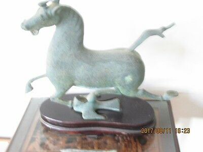 "Chinese Bronze ""Flying  Horse"" (Reproduction Han Dynasty) - PRICE REDUCED!"