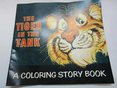 Vintage 1960s Esso Advertising The Tiger In The Tank coloring Story Book