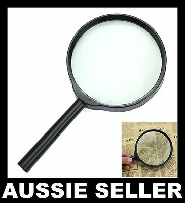 100mm 5X Hand Held Reading Magnifier Magnifying Glass Lens Jewellery Loupe Zoom
