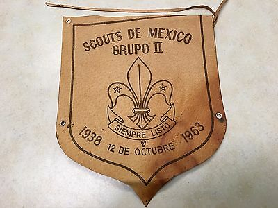 1963 Boy Scouts of Mexico Leather Shield