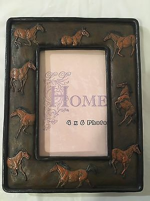 Beautiful Horse Western Picture Frame 4x6 Photo Resin