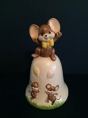 """VTG Collectible San Fran Music Box Co.Mouse  Balloons """"it's A Small World"""" C"""