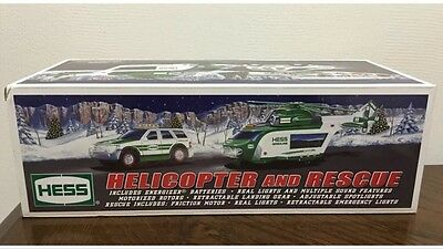 NEW 2012 HESS TOY TRUCK HELICOPTER and RESCUE New in box never opened