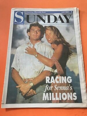 Sunday HERALD SUN Lift Out, Racing For Senna's Millions Article.
