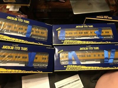 American Flyer 6-48978 Union Pacific 4-Car Heavyweight Passenger Set- NEW BOXED