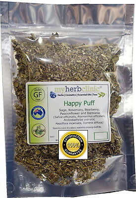 Happy Puff Organic Alternative Smoking Smoke Herbal Herb High Tea ~ Calming Mood