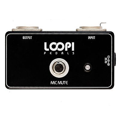Microphone Mute Pedal Switch - Loopi Pedals