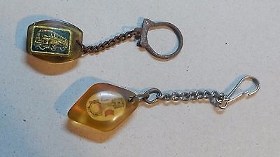 LOT OF 2 VINTAGE 1960's KEYCHAINS: ISRAEL AND .... ? - k92!!