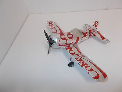 Aluminum soda can handcrafted airplane/DIET COKE (CORSAIR)