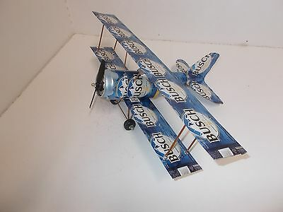 Beer can Aluminum handcrafted airplane/BUSCH (BI-PLANE)