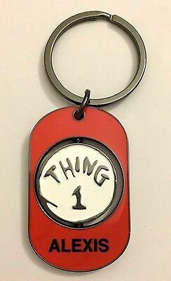 "UNIVERSAIL STUDIOS Dr Suess ""ALEXIS"" THING 1 & THING 2 Spinner Key Chain New"