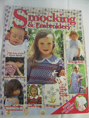 Australian Smocking & Embroidery # 19 1992 Old Rare issue Dress Baby Buttons