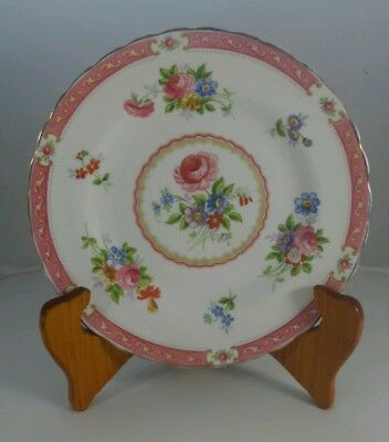 Vintage Tuscan China Lowestoft Pink Roses Bone China Side plate England 18cm
