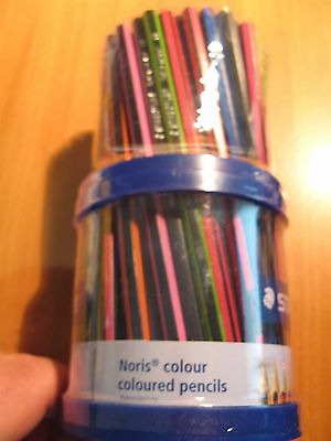 STAEDTLER Noris Club ABS Art Colouring Pencils Bulk Eco Coloured 108 Pencil +Cup